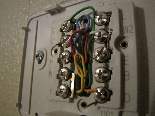 thermostat wiring photo