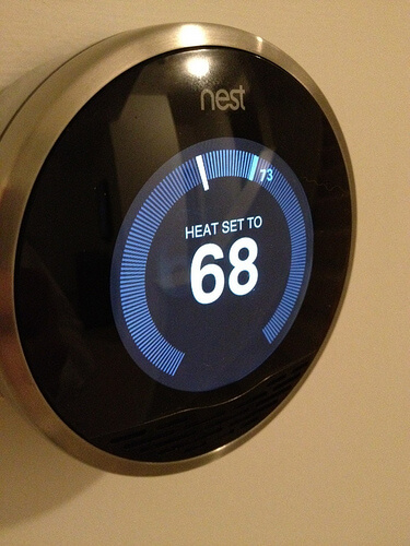 nest thermostat is installed photo
